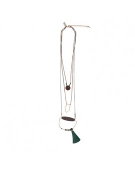 Clayre & Eef ketting Delilah 3 layers kwastje